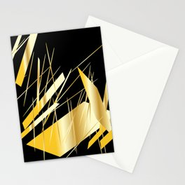 golden treasure abstract geometrical art Stationery Cards