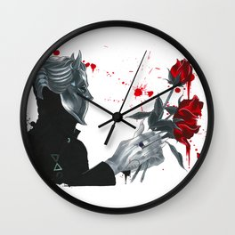 Red Red Roses Wall Clock