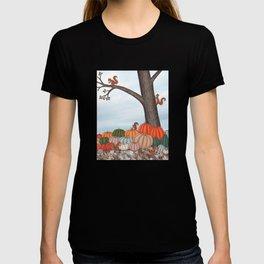 heirloom pumpkins, squirrels, & the oak tree T-shirt