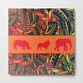 African Tribal Pattern No. 16 Metal Print