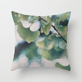 Rain in Yoyogi-kōen Throw Pillow