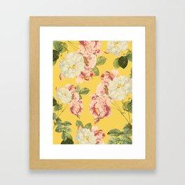 Flora temptation - sunny mustard Framed Art Print