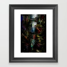 Astronaut in the city Framed Art Print