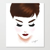 audrey Canvas Prints featuring audrey by Kathryn M.