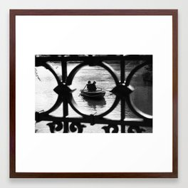 We are in the same boat Framed Art Print