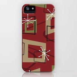 Mid Century Modern Maroon iPhone Case