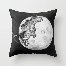 Party in the Moon Throw Pillow