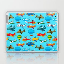 Cute Airplanes Helicopters Airships  Pattern Laptop & iPad Skin