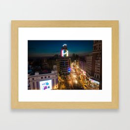 Callao & Gran Via Framed Art Print