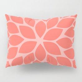 Coral Chrysanthemum Pillow Sham