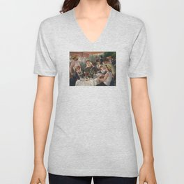 Auguste Renoir - Luncheon of the Boating Party (Le déjeuner des canotiers) Unisex V-Neck