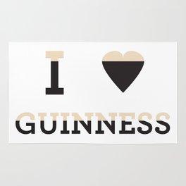 I heart Guinness Rug