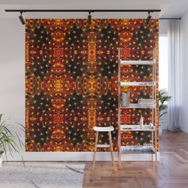 Red Yellow Sparkling Pattern Wall Mural