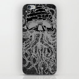 octopus white iPhone Skin
