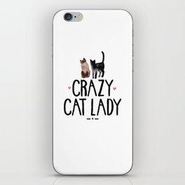 Crazy Cat Lady iPhone Skin