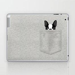 Pocket Boston Terrier - Black Laptop & iPad Skin
