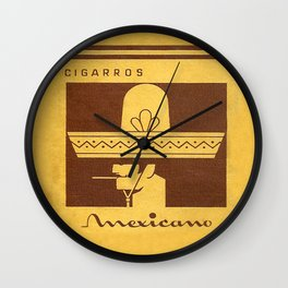 Mexicano - Vintage Cigarette Wall Clock