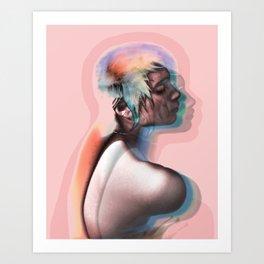 Natasha 1 Rainbow Art Print
