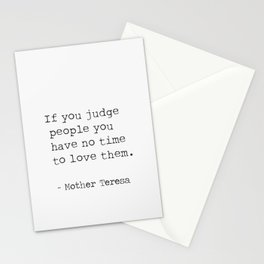 Mother Teresa quote 5 Stationery Cards