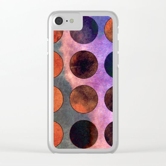 MELANGE of VIOLET and RUST Clear iPhone Case