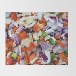 Onions and Bell Peppers Throw Blanket