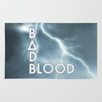 bastille Area & Throw Rugs featuring Bastille - Bad Blood #2 by Thafrayer