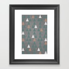 Concrete & Pattern Framed Art Print