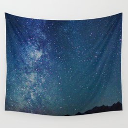 Milky Way Over the Tetons Wall Tapestry