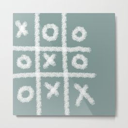 Tic tac toe Game Metal Print