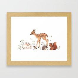 Woodland Friends Framed Art Print