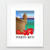 puerto rico Framed Art Prints featuring Puerto Rico, Puerto Rico! by PADMA DESIGNS PR