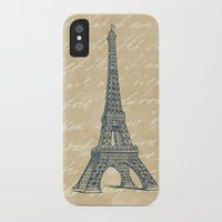 eiffel tower iPhone & iPod Cases featuring Eiffel Tower by Zen and Chic