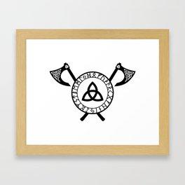 Norse Axe - Celtic Knot Framed Art Print