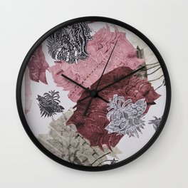 Carbonation Collection: pink Wall Clock