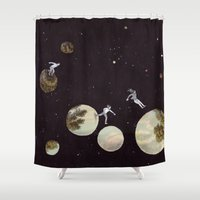 universe Shower Curtains featuring Universe by Matthias Leutwyler