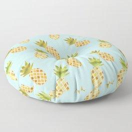 Blue Tropical Pineapple Pattern Floor Pillow