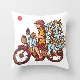 Duck Smuggler Throw Pillow