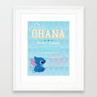 ohana Framed Art Prints featuring Ohana by Tiffany 10