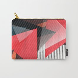 Fashion Triangle Abstract Geometric Pattern Carry-All Pouch
