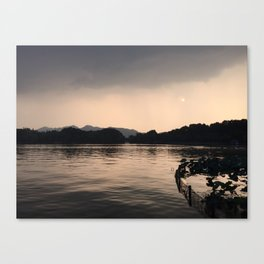 PERSPECTIVE // Sunset over West Lake, Hangzhou Canvas Print