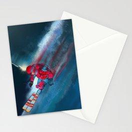 Extreme skiing illustration Stationery Cards