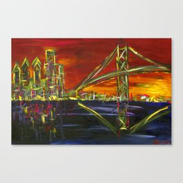 Ben Franklin Sunset Canvas Print