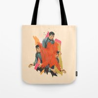 spock Tote Bags featuring Spock by Iotara