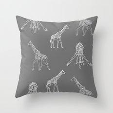 Strike a Pose (Giraffe) Throw Pillow