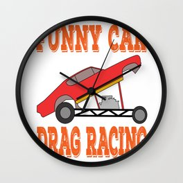 Stay positive all through out the day with this lovely funny and hilarious racer tee design  Wall Clock