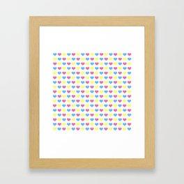 '80s hearts (larger) - Back to Basics Framed Art Print