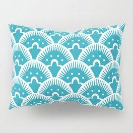 Fan Pattern Turquoise 201 Pillow Sham