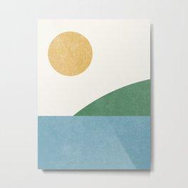 Sunny Landscape Metal Print