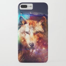 Colorful face wolf  iPhone Case