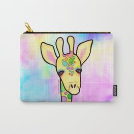 Giraffe in the Rainbow Carry-All Pouch